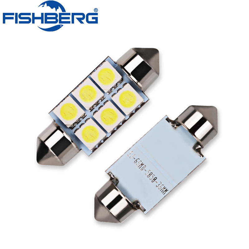 2x Festoon C5W 5050 SMD 6 LED C5W Araba Led Oto İç Dome Kapı Işık Lambası Ampul Yolu Lighting36mm 31mm 39mm 12 V FISHBERG