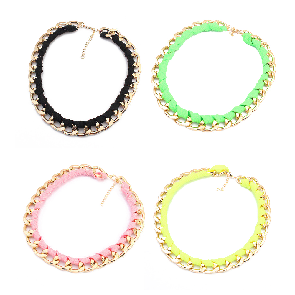 Fluorescent Color Women&39;s Chokers Necklace Trend-setting Necklace For Lady 88 KQS